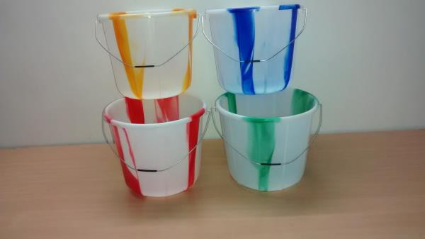 We are the best Plastic bucket Manufacturer  17Ltr Pure Virgin Plastic bucket Double Colors  - by Next Enterprises, Chennai