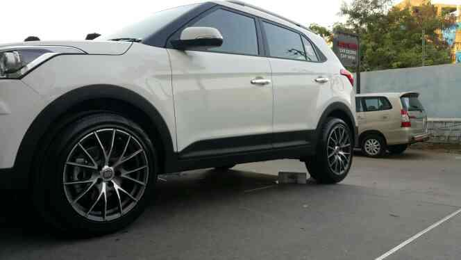 company oe alloys replaced with Oz alloys on hyundai creta @motominds