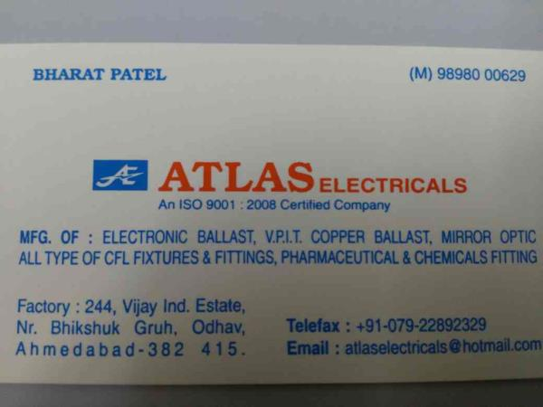 we are manufacturer of electronic ballast, copper ballast, mirror optic in Ahmedabad. - by Atlas Electricals, Ahmedabad