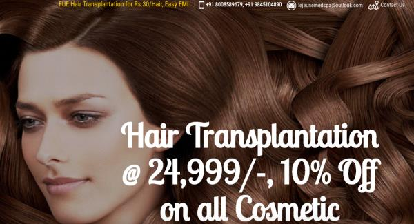 Hair Transplantation starting from Rs 29, 999 only  Call now on 8978575733 (Hyderabad) and 9845104890 (Bangalore) Offer only for the month of May!   - by Lejeune Skin Clinic  &  Hair Transplant Centre, Hyderabad