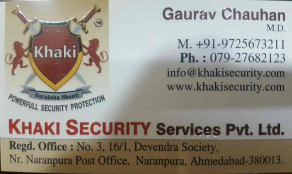 we are providing  top security services in ahmedabad since 2014. also providing best security services in all over Gujarat. - by Khaki Security Services Pvt Ltd, Ahmedabad