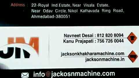 khakhra making machine  - by Jackson Machine, Ahmedabad