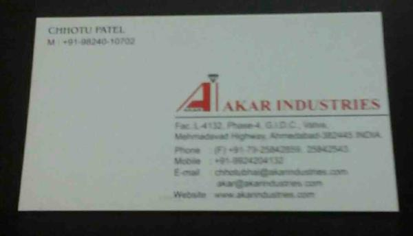 Screw Barrel Manufacturer - by AKAR INDUSTRIES, Ahmedabad
