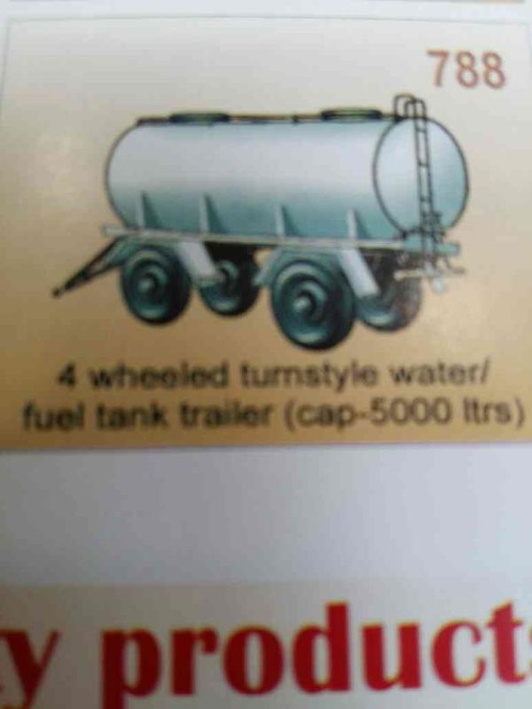 4 wheeled turnstyle water/fuel tank trailer