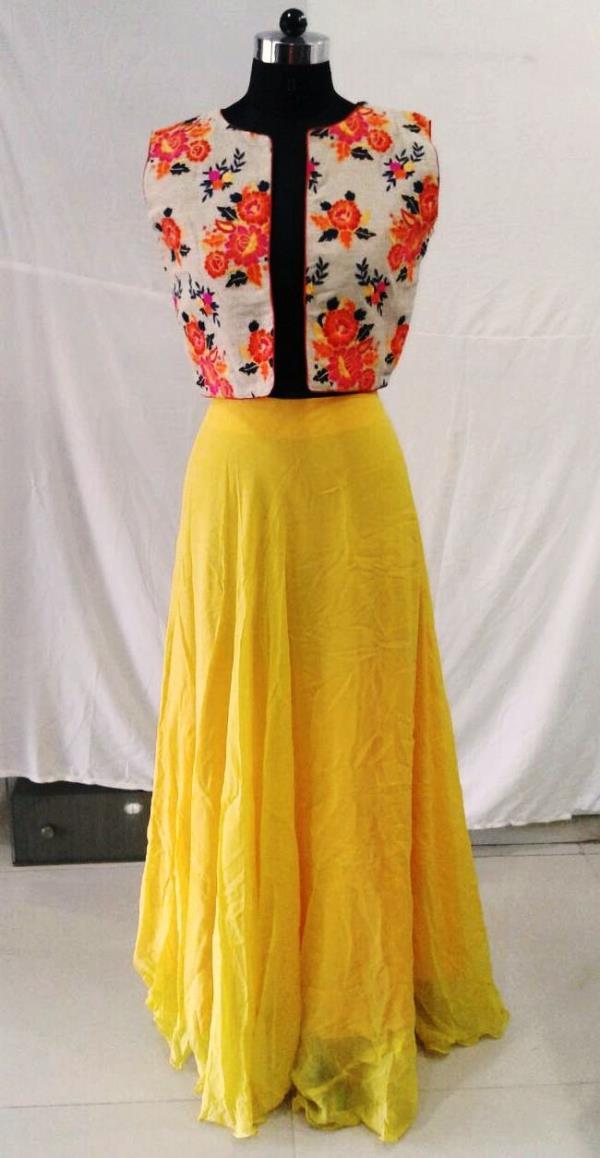 Yellow Skirts With Jackets - by Shibori Designer, Ahmedabad