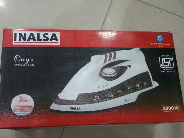 best inalsa onyx steam iron 2000 watt mrp 2795 and offer price 2495 in grahshobha sodala jaipur