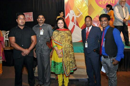 KHAKI SECURITY Services Pvt Ltd provided BEST BOUNCERS and GUN MAN to protect M.P. of Jamnagar , Poonamben Madam  in Navratri Event . We are providing Bouncers , Guards , Gunman , Security Supervisor , Security Officer , Lady Guard , etc. a - by Khaki Security Services Pvt Ltd, Ahmedabad