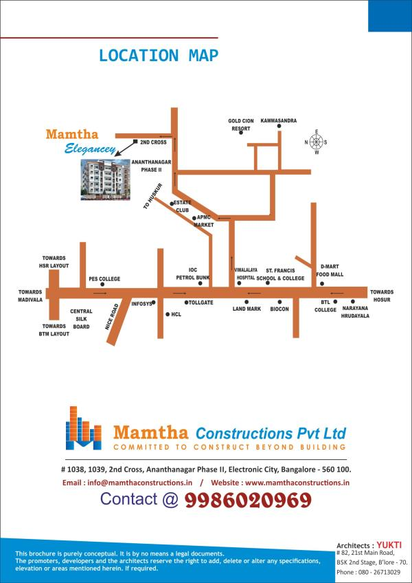2 BHK apartments for sale in Electronic City, Bangalore.  Mamtha Constructions presents 2 BHK apartments for sale in  Near Wipro Electronic City, Bangalore.  http://www.mamthaconstructions.in/