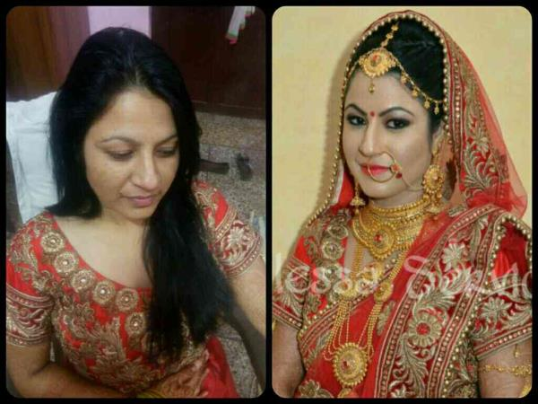 Amazing bridal makeup by Makeup Artist POOJA GUPTA.. Book Now for the best makeup & hair services in Delhi and NCR. Call at 99-999-888-68  best bridal makeup makeup and hairstyles  party makeup artist  makeups at home Or www.bellessabeauty.com