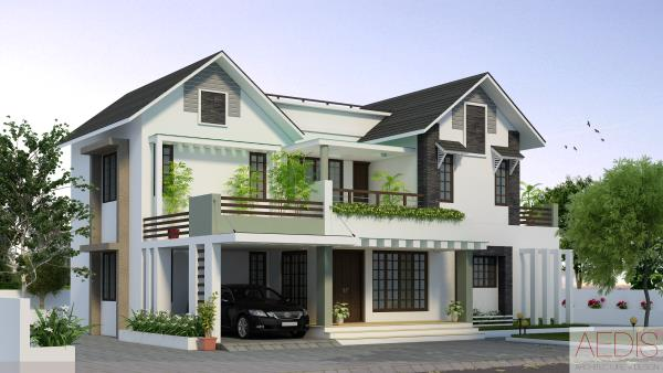 Newly modernized kerala home designs with variety of for Variety home designs