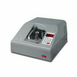 We offer a range of Note Counting Machines in Desktop version that is highly efficient due to excellent speed and accuracy. These note counting machines are available in a compact design that is coupled with exclusive features. These heavy duty note counting machines are offered with digital display and UV light detectors that marks errors during counting currencies that are in loose form or bundle.  Specification:  UV (Plain Paper) Detection: Optional Counting Speed: 100 pcs/4sec Vacuum Suction with OK Stamp Dimension: W370*D455*H200mm Power: Ac 230V/50Hz/400W Weight: 24Kg