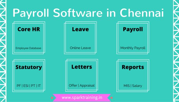 Payroll Software in Chennai | Online Payroll Processing in Chennai - by Spark Training Academy, Chennai