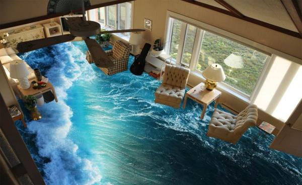 3D wallpaper for flooring which is washable and waterproof. We do this kind of work in vadodara.  - by Sun Enterprise, Vadodara