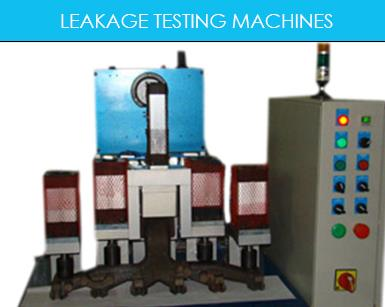LEAKAGE TESTING MACHINES:-----LEAKAGE TESTING MACHINES ARE USED TO ENSURE NO LEAKAGE IN CI AND ALUMINUM CASTING. PRESSURE DROP TYPE & VOLUMETRIC TYPE WITH AND WITHOUT BUBBLE TEST ARE MADE CUSTOM BUILT . WE USE ATEQ FRANCE CONTROL ELECTRONIC - by R.T. AUTOMATIONS, Gurgaon