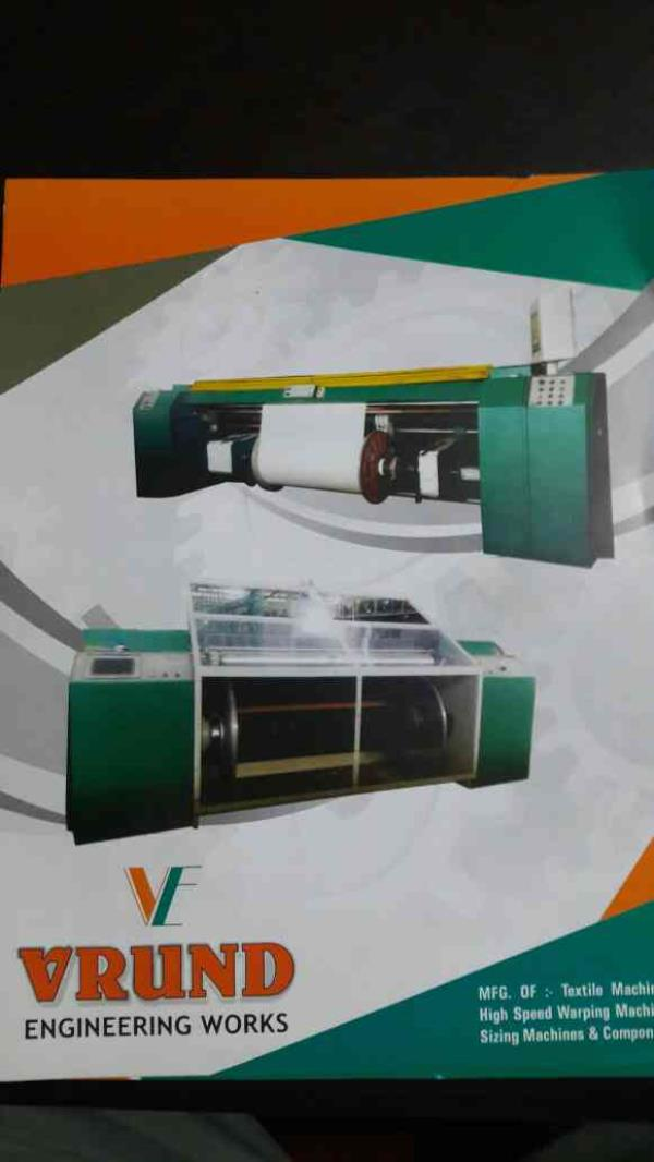 We are the leading manufacturer of Warping Creel, Textile warping Machine , Sizing machine Hydraulic warping machine, High speed Direct warping machine and Textile cooker , Textile mixing vessel, size cooking vessel and Textile storage vess - by VRUND ENGINEERING WORKS, Ahmedabad