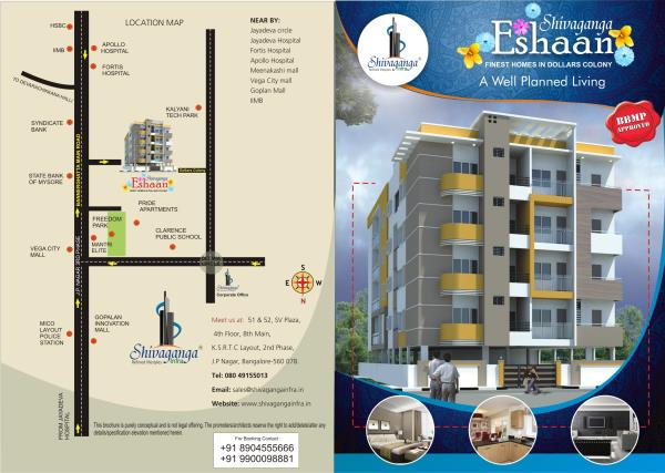 Flats for sale in Negotiable Price Shivaganga Eshaan the houses are situated Near Bilekahalli Signal, bannerghatta Main road - by Shivagangainfra, Bangalore