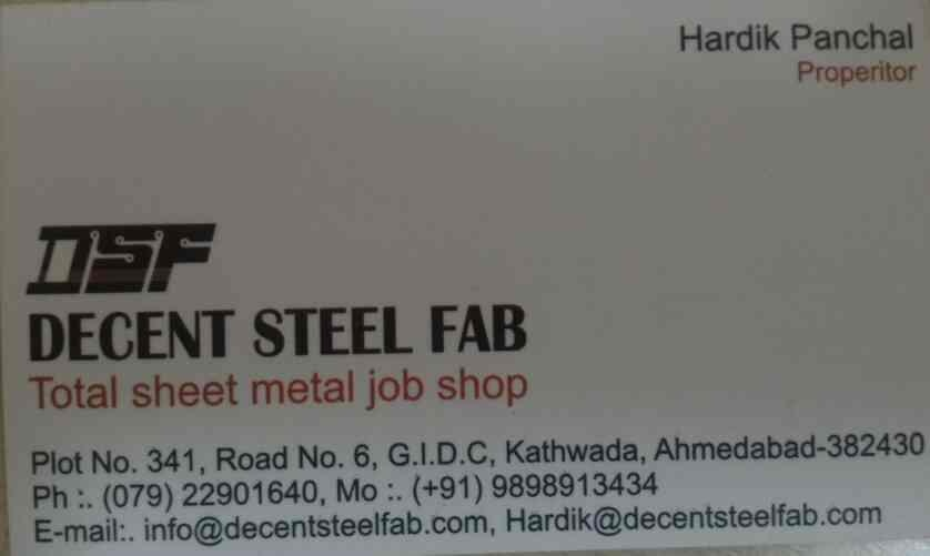We have another firm which has wide range of products and providing total sheet metal job works in India