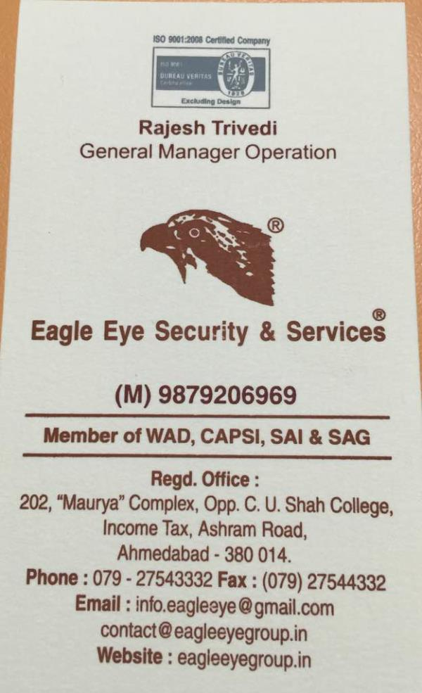 Eagle eyes security and services  - by Eagle Eye Security, Ahmedabad