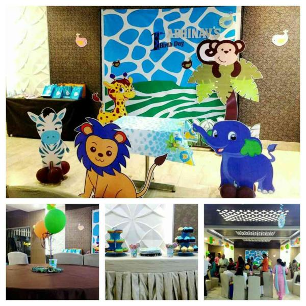 Blue Safari Theme Decor for Abhinav's 1st Birthday Party, We thank his MOM & DAD for giving us the opportunity www.midor.in #midorevents #midorentertainments #bluesafaritheme