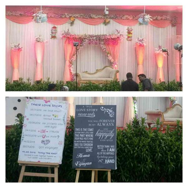 How did Bride & Groom met each other, here is the love story. Thanks Ms Vidya V Iyer for given us such innovative project.   www.midor.in #midorevents #midorentertainments