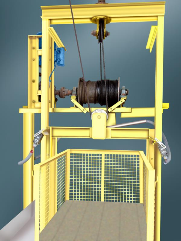 MATERIAL LIFT / GOODS  LIFT / CARGO LIFT  We are a leading manufacturer of Material Lift / Goods Lift. These Material Lift / Goods Lifts are used in the Industrial sites / Commercial Sites like Textile Shopes, Mills,  Hotels, Provisional Stores, Food Processing Industries, etc.,  to lift the materials to various floors. These Lifts are provided with Fail Safe Brake for Safety during operation & on power failures.  SPECIFICATIONS :   •	150 Kgs To 2.00 Ton Capacity •	Ground + 1 Floor ( Chain Drive ) to Ground + 5 Floors ( Rope Drive )