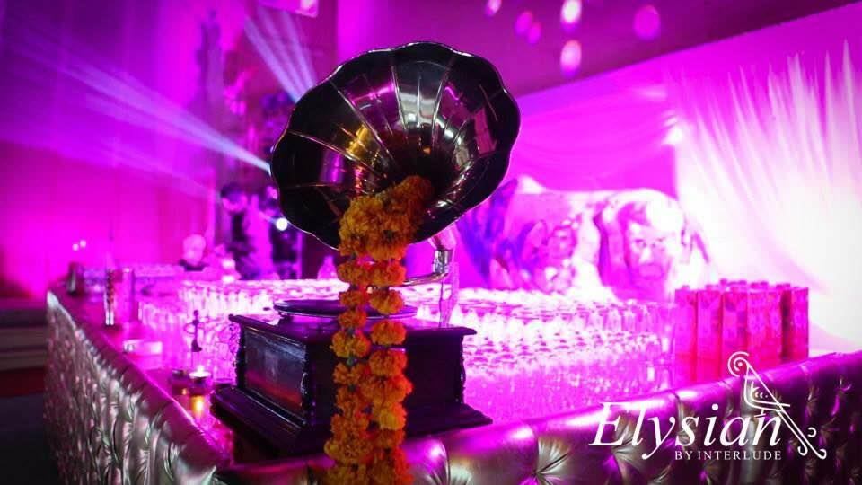 Retro kitsch theme sangeet at Samode palace   - by Elysian weddings, New Delhi