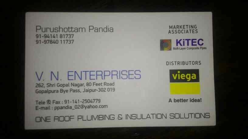 KiTEC pipe and Viega  authorised distributor in Rajasthan