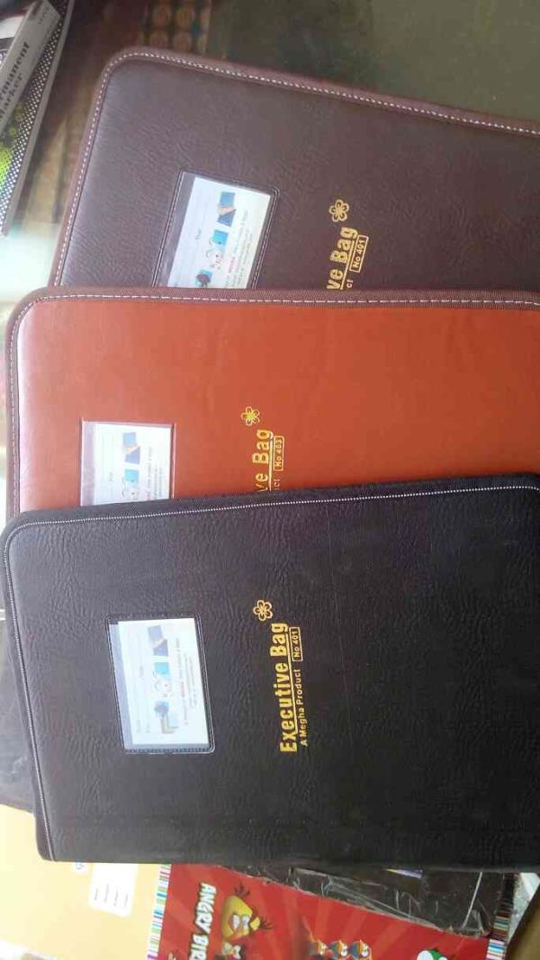 we are dealing in executive bag/ file in different shade and sizes, 10-20 up to 50 folders Vadodara, Gujarat.