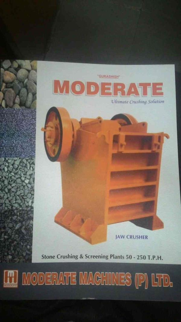 complete stone crushing solution  - by Moderate MACHINES PVT LTD, JAIPUR