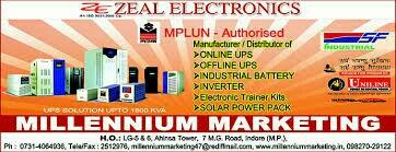 Sinewave UPS Solar UPS Digital UPS Input Power for UPS UPS Cabinet Offline UPS UPS Spare Parts   UPS Repair Industrial UPS Second Hand UPS Battery UPS Servicing UPS Micro Processor UPS UPS Connector   Data Centre UPS IGBT UPS UPS For Comput - by Zeal Electronics, Indore
