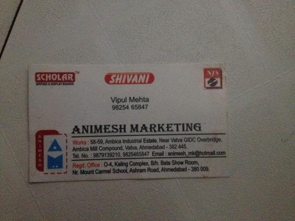 We are leading distributor of white boards and we orders in bulk only - by Animesh marketing, Ahmedabad