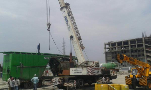 We are expert in RMC plants and Silo Erections...Hydraulic cranes from 10T to 150T crane capacity we supply for Local Hiring, Monthly Hiring, Pune city, Pimpri Chinchwad, Chakan and in and around Pune  - by Sanas Cranes Pvt. Ltd, Pune