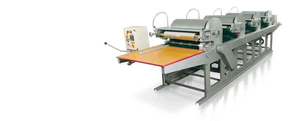 Four colours Flexo graphic printing machine manufacturers   www.ntex.co.India  - by N-TEX ENGINEERING WORKS , Ahmedabad