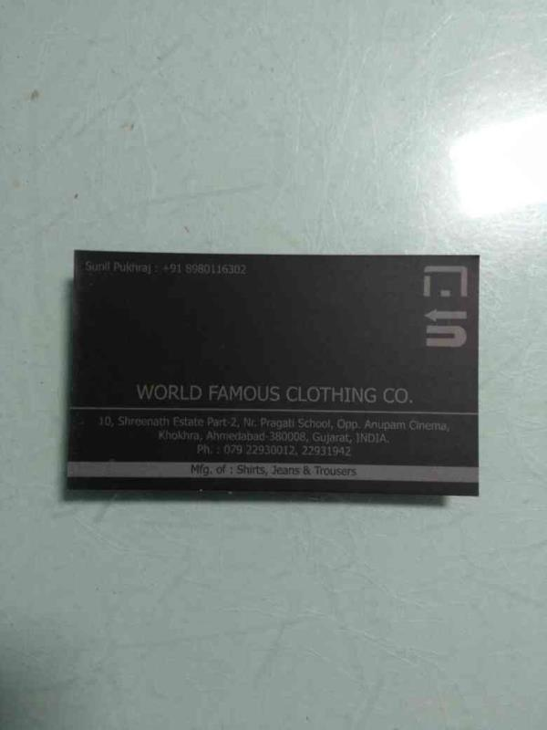 Men's trousers are our core product , we give best quality to our customers.