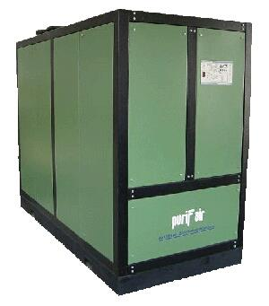REFRIGERATED DRYER  The Refrigerated type of Air Dryer can achieve an Atmospheric Dew point of (-) 230C                                         The Refrigerated type of air dryer works on Refrigeration principle. When the temperature of air - by Puriflair India Pvt. Ltd., Vadodara