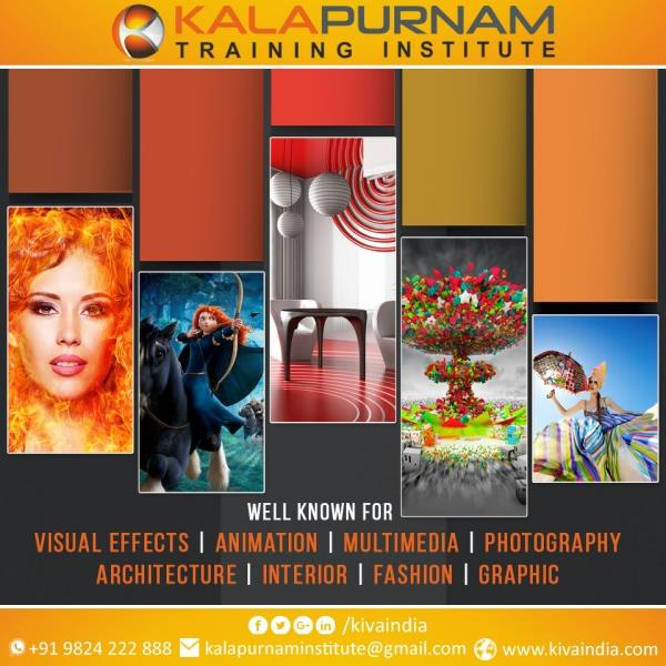 KALAPURNAM STRENGTH Excellence in Education since 2006. Gujarat's largest Training campus for High-end 2D-3D Animation, Visual Effects, Multimedia, Graphic, Web, Fashion, Interior & Architecture Design Training. Full Day Presence & Management by Director, results in best quality passout. Highest ongoing active student's strength. Best Infrastructure & technology based on Real-Life training Environment. International achievement - IBDAA Awards ( Dubai ) etc. First Institute in Gujarat having high specification Apple Macintosh system from Singapore. A new digital way of learning on basis of Industry Articles, Expert videos, Blogs etc. Only Wacom Authorised Training centre in Gujarat for Digital Design. Apart from full time faculties, Special lectures by visiting Faculty & webinar. Self  Designed Curriculum with In-depth Execution. Specially Designed Mentor Series program at the centre where Mentor helps students to develop student's work skill up to industry standard level. Excellent Career Development Training. Quality Education at Affordable Fee with easy installment. Scholarship for the differently abled students.  Splendid Performance by our alumni in well-known studios. Best Coaching for Art, Design, Media & Communication Fields. Appreciation certificate provided by Just Dial, Sulekha & Tasi. Online International Examination Centre. We are situated in one of the Best Architectured columnless building in the reachable business hub of city.  Testimonials of numbers of Students And their Parents. Pioneer in advanced digital edge courses for Fashion, Interior and Architecture Design.  Uniqueness : Different specialized faculties for each of our course. Highest placement Record being recruiter's Foremost Choice as right Placements come through Right choices. Campus Test, Campus Interview & Campus Recruitment. Learning with Earning Concept. Chroma studio, HD camera, Baby Lights etc. instruments for VFX. Excellent live exposure on real work. Enriched with E-library apar