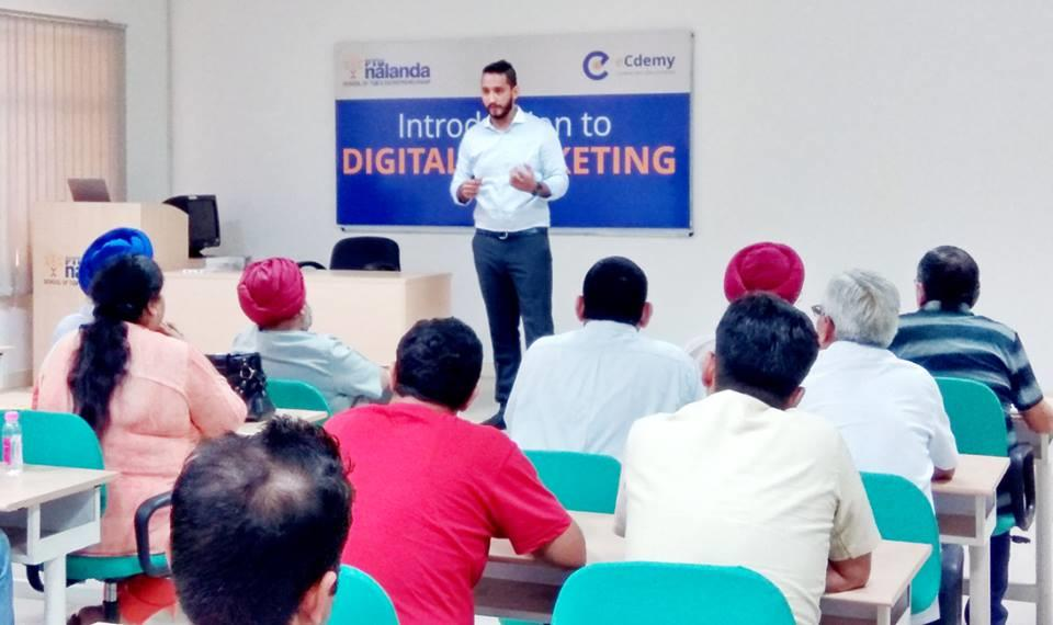 Digital Marketing   ‪‎PTU Nalanda‬ hosted a session on ‪‎Digital Marketing‬ for members of Chandigarh Management Association (CMA) at its campus. The participants were welcomed by our CEO, Mr Manish Trehan. Mr Bharat Chopra from ‪‎eCdemy‬ L - by PTU Nalanda School of TQM & Entrepreneurship, Mohali