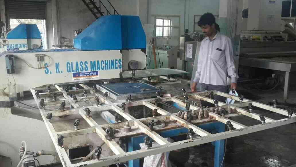 This machine is used to keep holes for Glass Doors and Windows. - by OM GLASS | GLASS MANUFACTURERS | ANDHRA PRADESH, Visakhapatnam