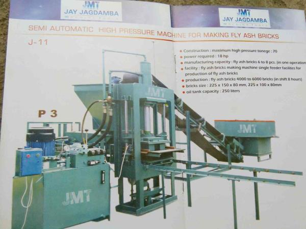 leading manufacturer of brick making machine in morbi gujarat - by JAY JAGDAMBA MACHINE Tools, Morbi