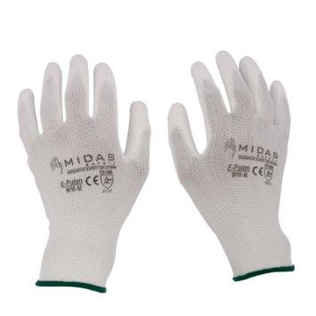 We are best supplier of PU coated hand gloves in vadodara gujarat india and surat gujarat india - by Nobel Safety, Vadodara