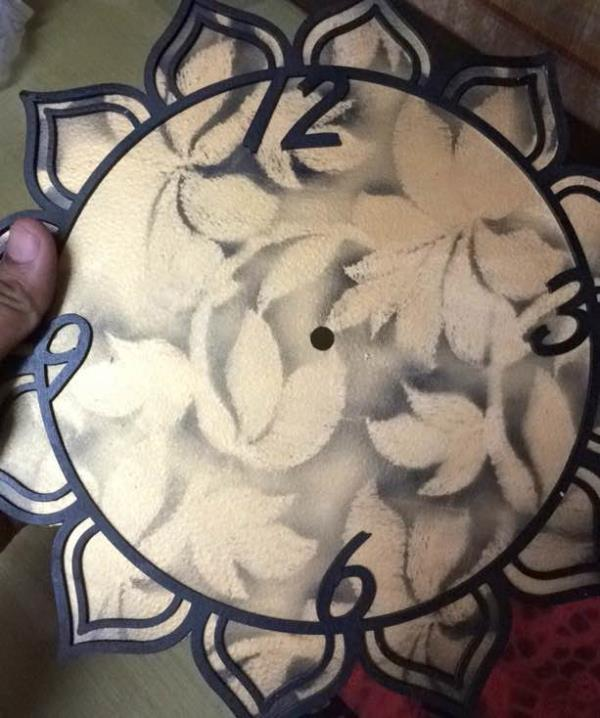 New collection handmade wall clock by kiranholographics Manufacturers of laser crafts in jaipur...also into laser cutting job work in jaipur