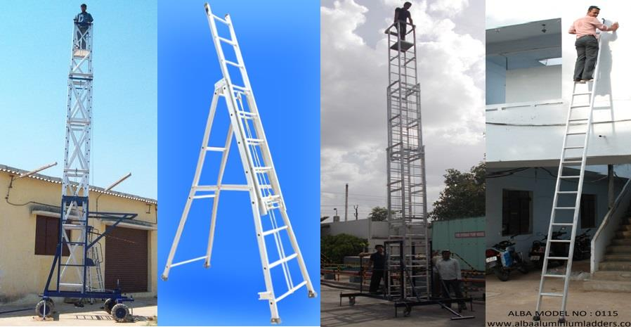 ALBA ALUMINIUM LADDERS is an ISO-9001-2008 Certified Company, specialized in manufacturing of Aluminium Ladders, Tower Ladders, Self Support Ladders, Extension Ladders and Aluminium Scaffolding and having 20 years of experience in this domain and successful delivering our products and services to the customer locally and in global arena. We are well equipped with modernized ladder production equipments, testing equipments, and highly skilled technical force and accompanied with excellent professional technicians and managers. Lead by experienced management team the company has firmly established itself as Manufacturer and Supplier of Aluminium Ladders, Tower Ladders, Extension Ladders, Hydraulic Ladders and Scaffolding in Hyderabad, India.