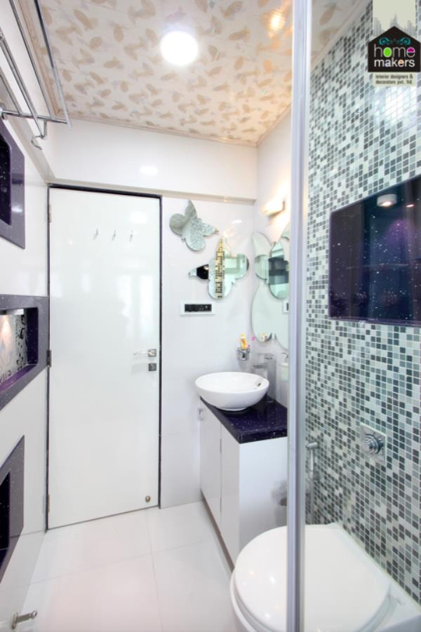 washroom designed by home makers interior designers decorators pvt