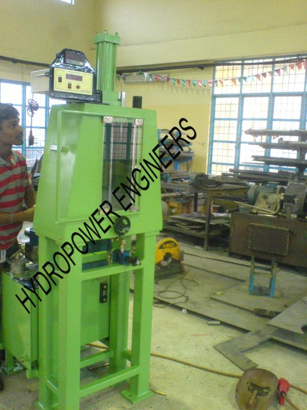 Impact Tester. It is a Testing Machine with Load cell and Measuring instruments. It is made in our Bangalore INDIA plant. When a impact is made on a welded joint or any material Energy will be transferred in a fraction of a second. Failure  - by Hydropower Engineers, Bengaluru