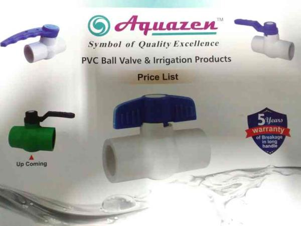 Aquazen Polytech provides you best quality PVC Ball Valve and irrigation products in Ahmedabad India