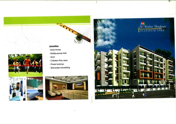 "Luxurious 2 BHK Flats for Sale at Horamavu Sri Krishna Brindavanam Platinum Park "" by Brindavanam Builders & Developers at Horamavu near Deva Matha Central School. It is approved by BBMP, Ground + 4 Floors, altogether 36 Luxury Independent  - by Indiprop.com, Bengaluru"