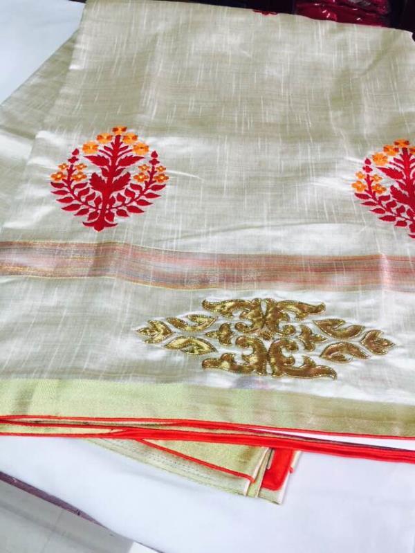 Tasaar silk in the boutique .step in for more choices .. - by VI VI MOTIFS MADURAI, Madurai