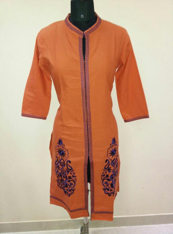 we are kurtis manufacturer and wholesalers from jaipur with embroidery cotton rayon slub and flex kurtis at factory rates. kindly buy from goldenthreadstore.in
