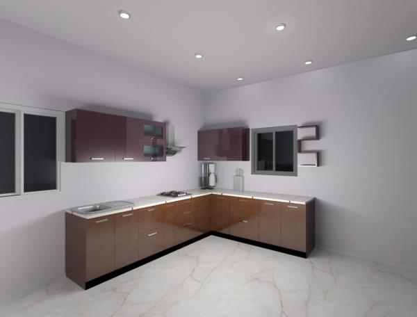 Modular kitchen high glossy finish  - by Frontier Modular, Bangalore