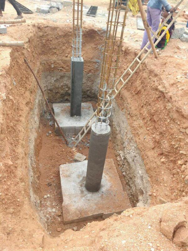 Column marking - by Landmarksurveyors&engineers, Hyderabad